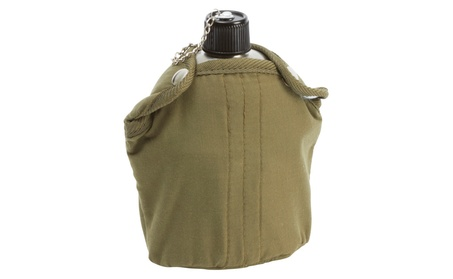 Maxam 32oz Stainless Steel Canteen with Cover and Cup 92eba801-33b3-4c89-97a0-a8cd3bce4b60
