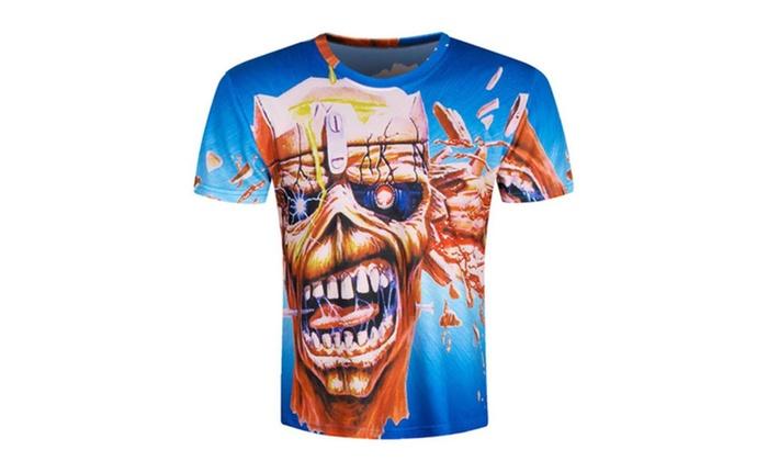 LINNA Unisex's Casual Short Sleeve 3d Creative Print Hip Hop T-Shirts