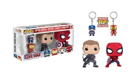 Funko Pop Marvel Captain America: Civil War Figures Set (4-Pack) a17dc08d-2133-43a7-a684-fee02a10dbbb