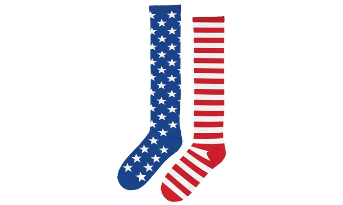 31d549add Patriotic Stars and Stripes Knee High Socks (3-pack)