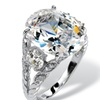 10.43 TCW Oval-Cut Cubic Zirconia Ring