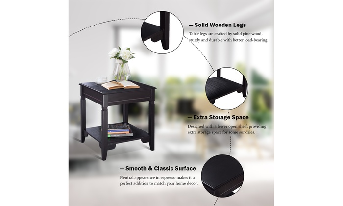 Tremendous Up To 23 Off On Nolan End Table Durable Side Groupon Machost Co Dining Chair Design Ideas Machostcouk