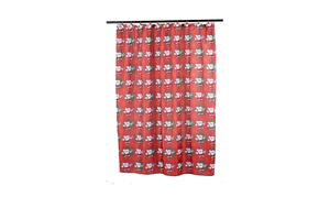 Carnation Home Fashions Santa Claus Fabric Shower Curtain