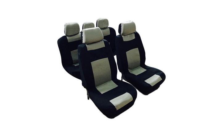 Fantastic 9Pcs General Seasons 5 Seats Black Yellow Car Seat Covers Lamtechconsult Wood Chair Design Ideas Lamtechconsultcom