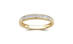 0.25 Cttw Princess Diamond Channel Band in 10K Gold - KR14516FY12