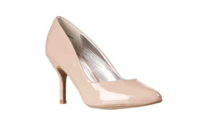 Riverberry Women's 'Deluxe' Pointed Toe Stilettos, Nude Patent