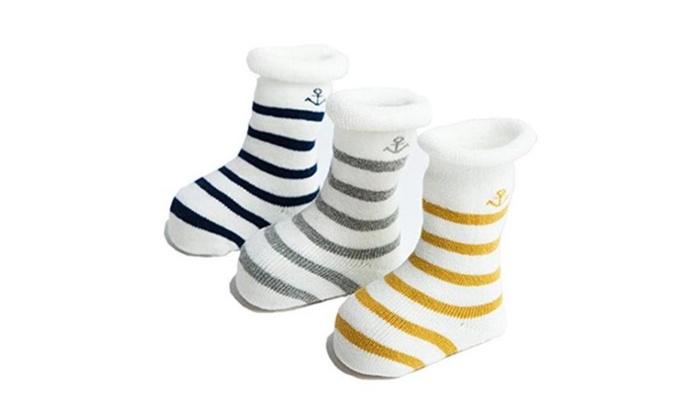 3pack Unisex Baby Socks Soft Cotton Warm Winter Infant Toddler