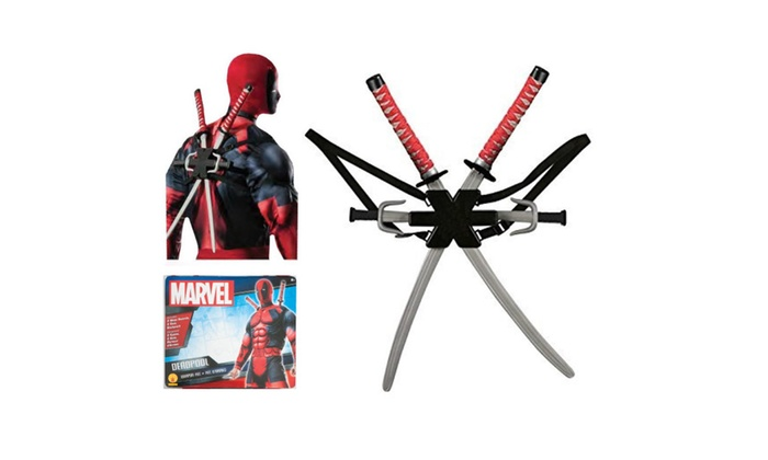 Marvel Classic Deadpool Weapon Costume Accessory Kit Ninja Sword 36067