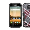 Insten Diagonal Plaid Hard Silicone Case For Huawei Union Gray Red