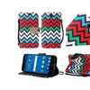 Insten Chervon Folio Leather Fabric Case For ZTE ZMAX 2 Red Blue