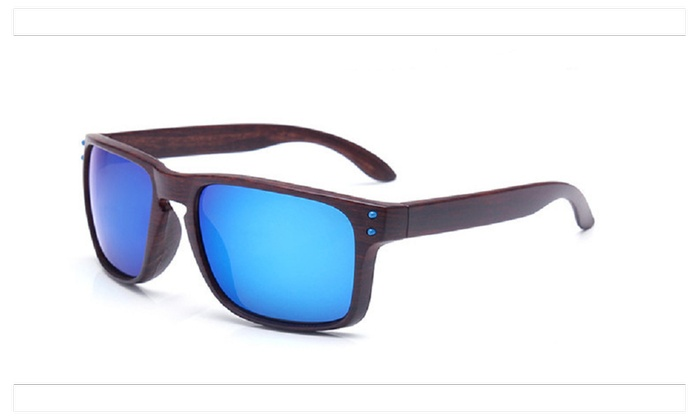 Fashionable Wood Sunglasses Men Reflective Sports Sun Glasses