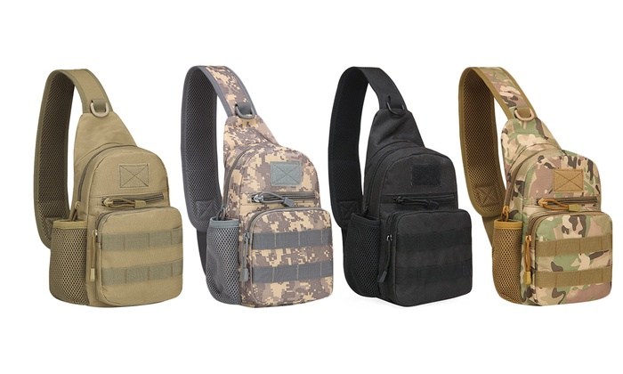 Mens Tactical Military Camo Camping Travel Shoulder Sling Cross Body Chest Bags
