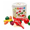Wooden Children Education Toy Cutting Fruits Vegetables Food Play Set