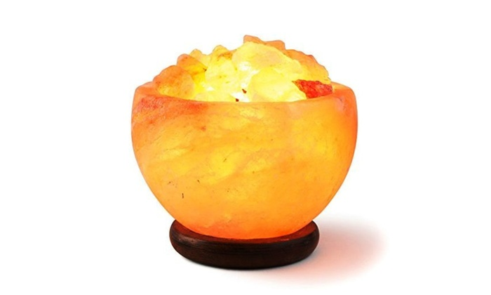 HemingWeigh Himalayan Rock Salt Lamp with Wooden Base