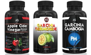 Apple Cider Vinegar, Garcinia Thermogenic, and Garcinia PM (3-Pack)