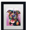 Dean Russo 'Ms Understood' Matted Black Framed Art