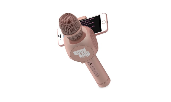 Bluetooth Karaoke Microphone and Speaker With Retractable Phone Holder