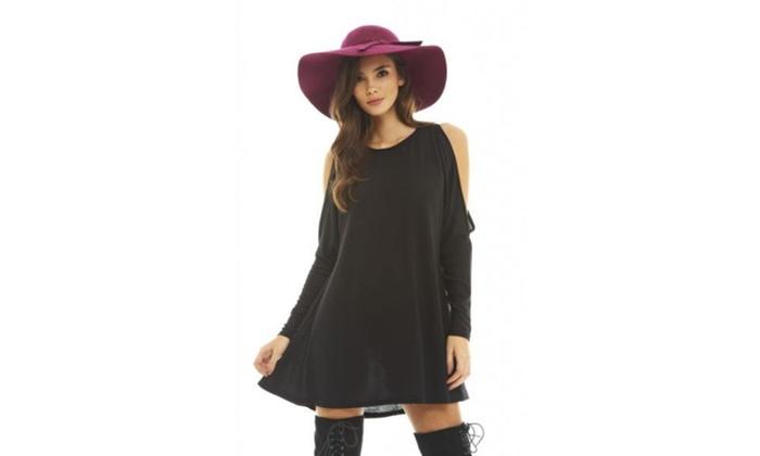 AX Paris Arm Split Knitted Swing   Dress