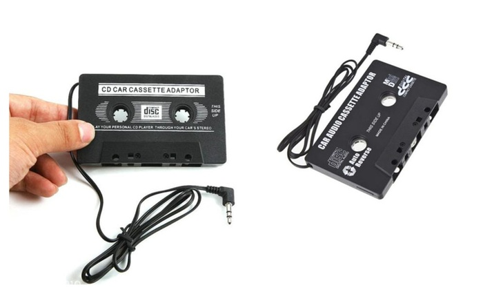 car audio cassette adapter tape 3 5mm aux audio for cd cellphone car audio adapter leads at Car Audio Adapter