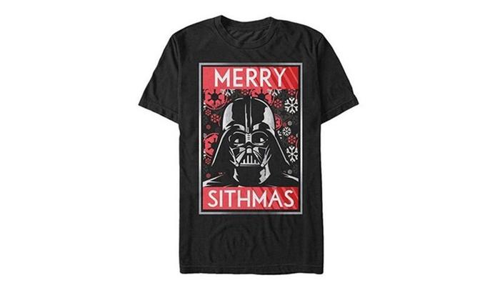 star wars christmas sithmas darth vader mens graphic t shirt