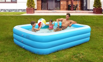 CoolWorld Inflatable Swimming Pool, Play Center, Blowup, 103 x 69 x 24""