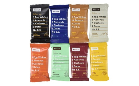 RxBar Real Food Protein Bars Variety Pack, 9 Flavors Pack of 18