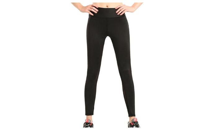 Women's Simple Mid Rise Regular Fit Straight Long Leggings