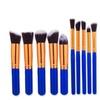 10Pcs Makeup Cosmetic Blush Brush Eyebrow Foundation Powder Brushes