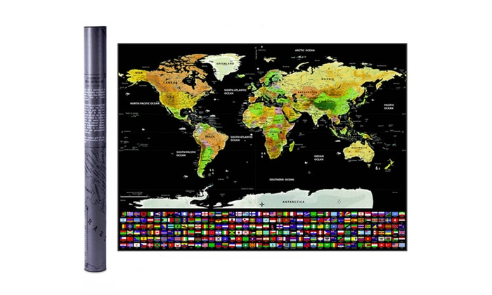 World map scratch off poster groupon world map scratch off poster gumiabroncs Choice Image