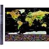 World Map Scratch Off Poster