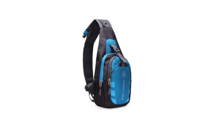 Nylon Chest Shoulder Bag Sport Running Outdoor Men Waterproof