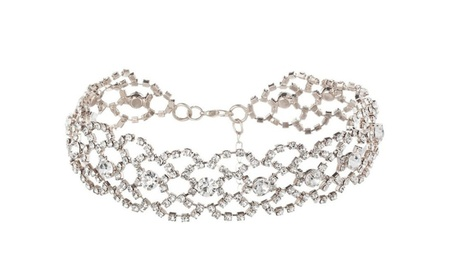Alloy Crystal Rhinestone Golden Chain Choker Necklace for Women 53f09448-7b52-42c7-a457-e6d24500d3d0