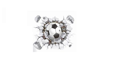 Flying Football Through Wall Stickers 4f25c531-83fe-46b1-a06a-f46db53a72c8