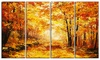 Groupon Goods: Yellow Autumn Forest - Landscape Metal Wall Art