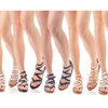 Women's Buckle Zip Gladiator Sandals