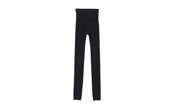 Women's Long Skinny Casual Casual Pull On Style Leggings - Black / One Size