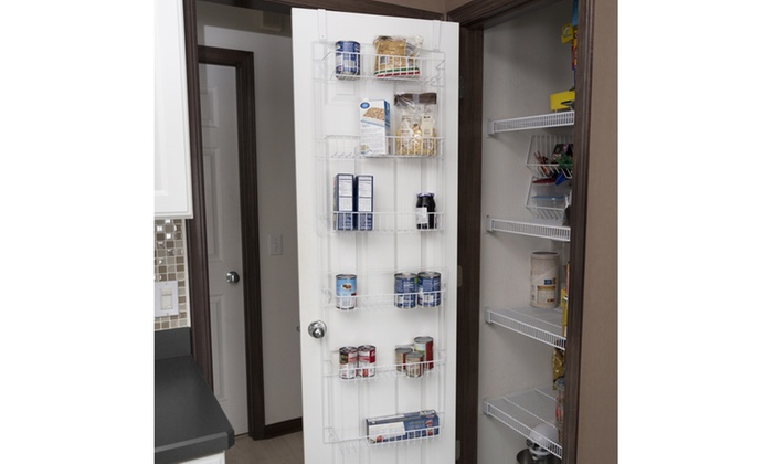 Closet Organizer W/ 6 Shelves, Over The Door Pantry And