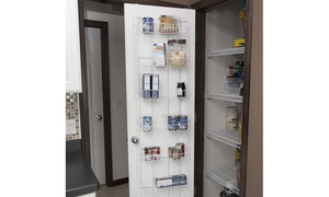 Over-the-Door Pantry and Bathroom Organizer with 6 Shelves