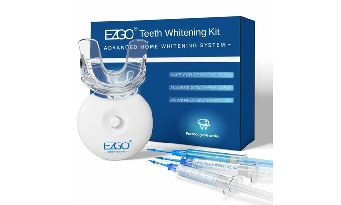 Up To 57 Off On Ezgo Teeth Whitening Kit W L Groupon Goods