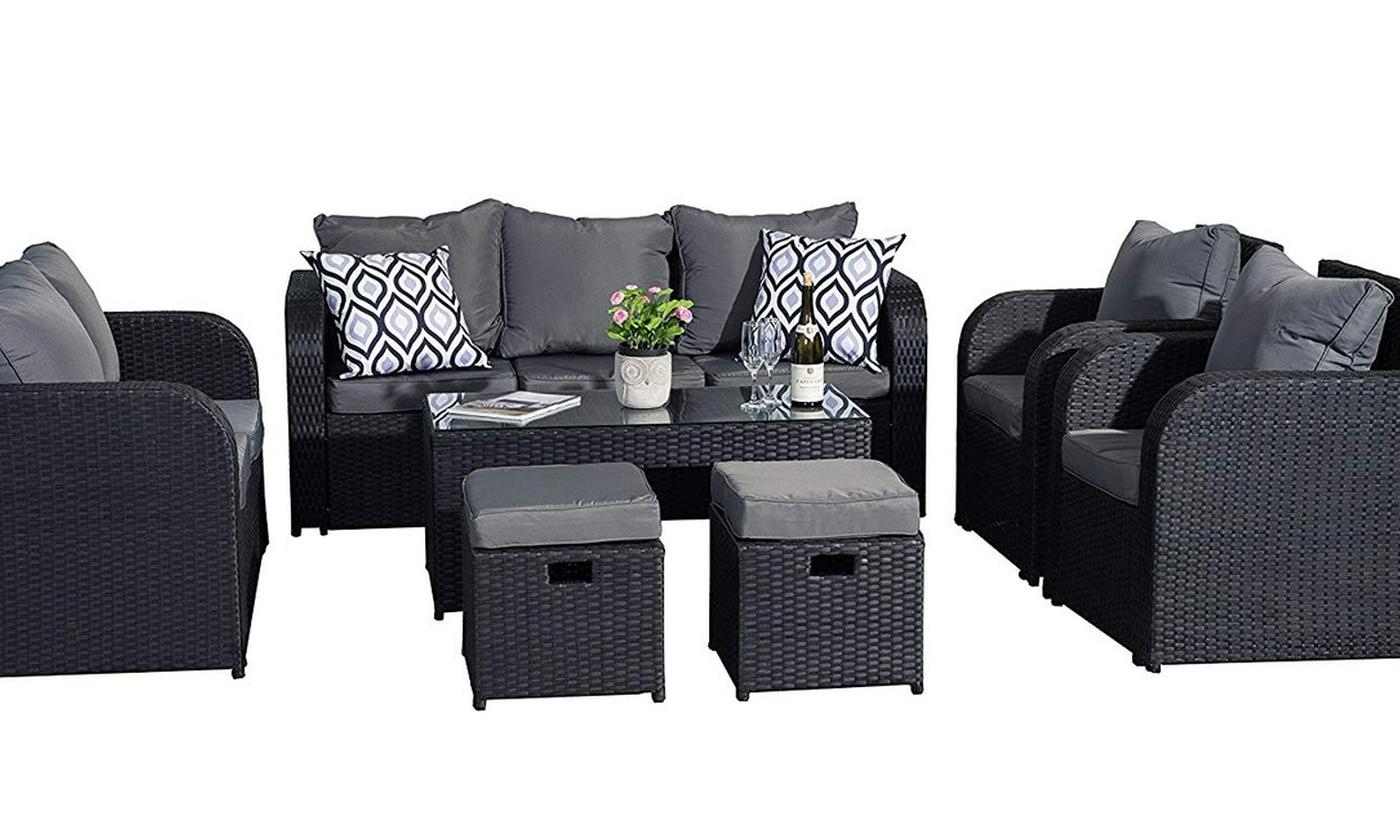 Yakoe Chicago PE Rattan Outdoor Furniture Set with Optional Cover for £539.99