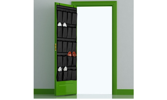 20 Pocket Over the Door Shoe Organizer Space Saver Rack Hanging Storage Closet