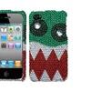 Insten Nomnom Monster Premium Diamante Case, W/package For Iphone 4 4s
