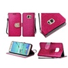 Insten Leather Glitter Case For Samsung Galaxy S7 Edge Hot Pink/gold