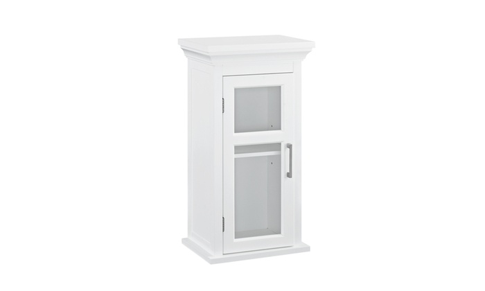 Avington 10 X 15 X 27 Inch Single Door Wall Cabinet In White