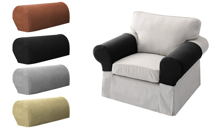 Fantastic Up To 80 Off On Stretch Premium Fit Couch Arm Groupon Pabps2019 Chair Design Images Pabps2019Com