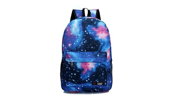 Printing Casual Backpack Galaxy Stars Universe Space School Book Bag