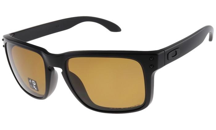 8976a16d62ff Oakley Holbrook OO9102-98 Matte Black Frame   Bronze Polarized Lenses