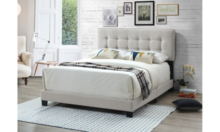 Audrey Modern and Contemporary Fabric Upholstered Bed