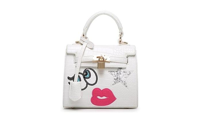 HIFISH HB125267C4 PU Leather Korean Style Women's Handbag,Square Cross-Section Lock Bag - C4 / one s...