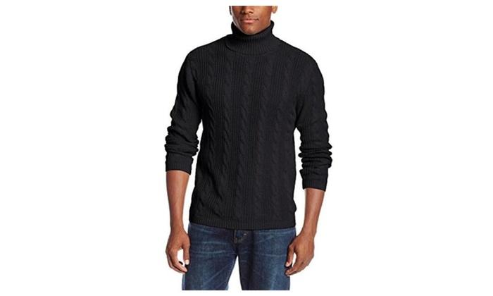 Men's Cable Turtleneck Sweater
